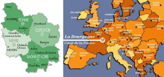 Carte De Bourgogne Michelin.Bourgogne Romane Page D Accueil