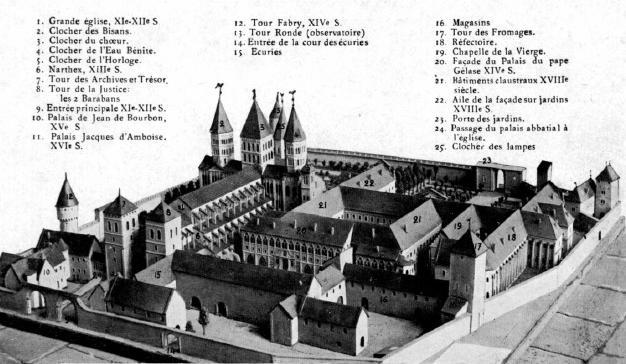 """Résultat de recherche d'images pour """"abbaye de cluny reconstitution"""""""
